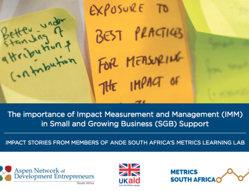 Impact Measurement and Management in Small and Growing Business Support