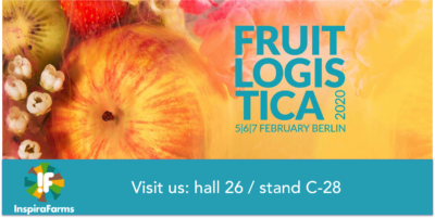 InspiraFarms participating at Fruit Logistica 2020, look for our booth