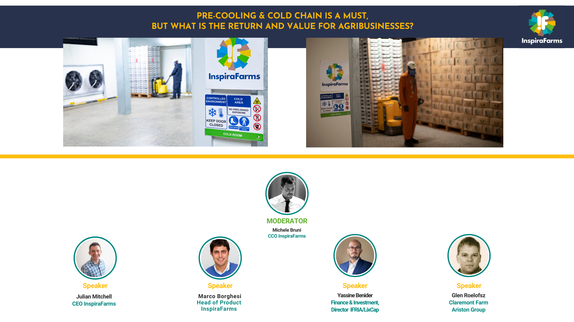 Pre-cooling & cold chain is a must, but what's the ROI